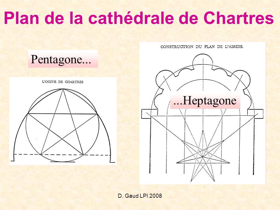 Plan de la cathédrale de Chartres