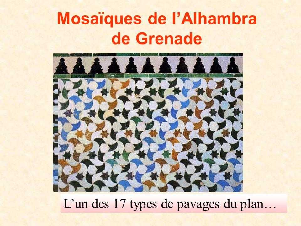 Mosaïques de l'Alhambra de Grenade