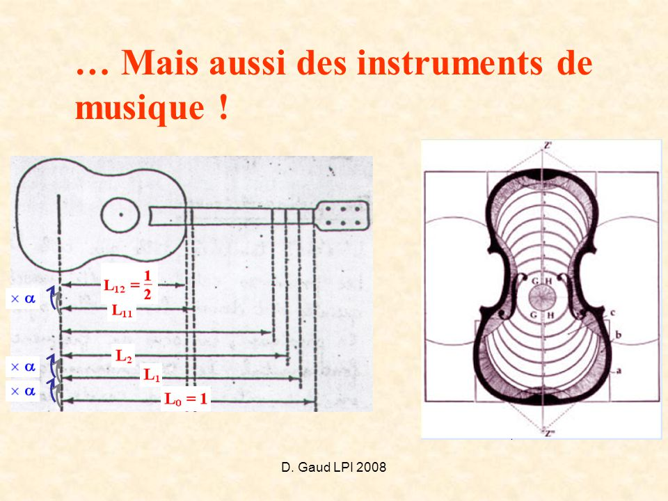 … Mais aussi des instruments de musique !