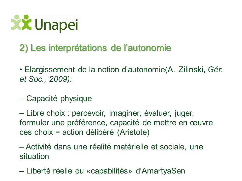 2) Les interprétations de l'autonomie