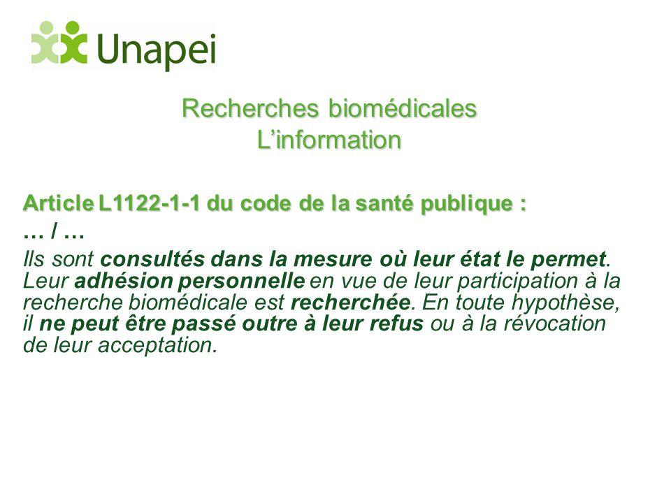 Recherches biomédicales