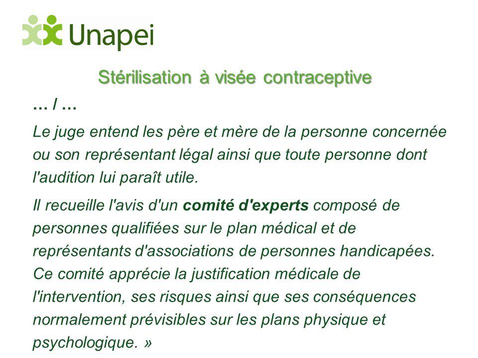 Stérilisation à visée contraceptive