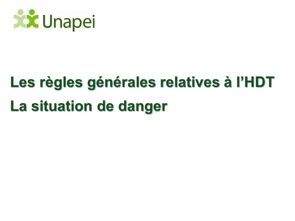 Les règles générales relatives à l'HDT