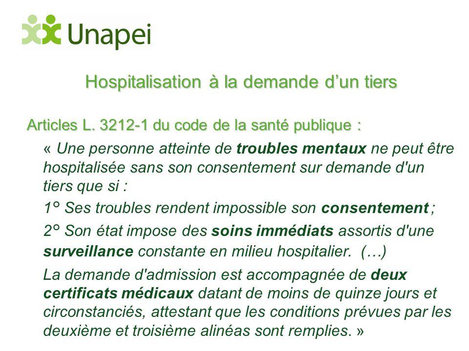 Hospitalisation à la demande d'un tiers