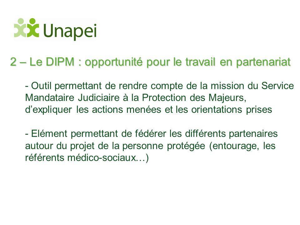 2 – Le DIPM : opportunité pour le travail en partenariat