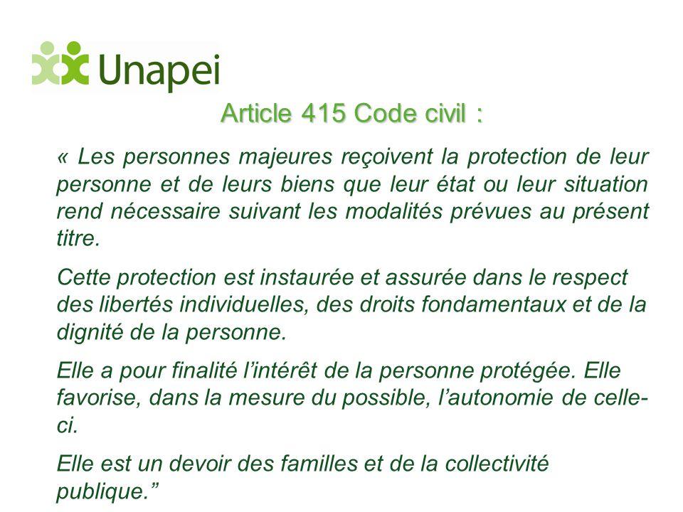 Article 415 Code civil :