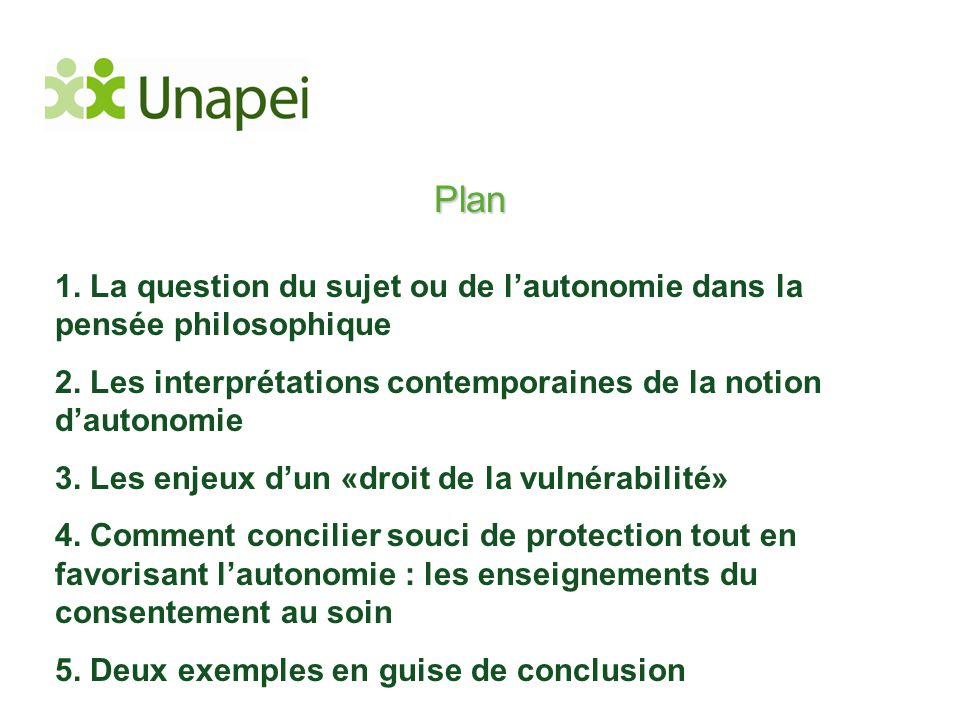 Plan 1. La question du sujet ou de l'autonomie dans la pensée philosophique. 2. Les interprétations contemporaines de la notion d'autonomie.