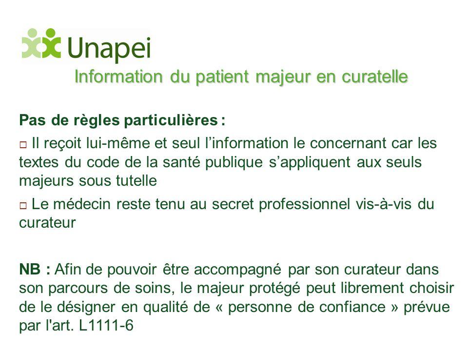 Information du patient majeur en curatelle