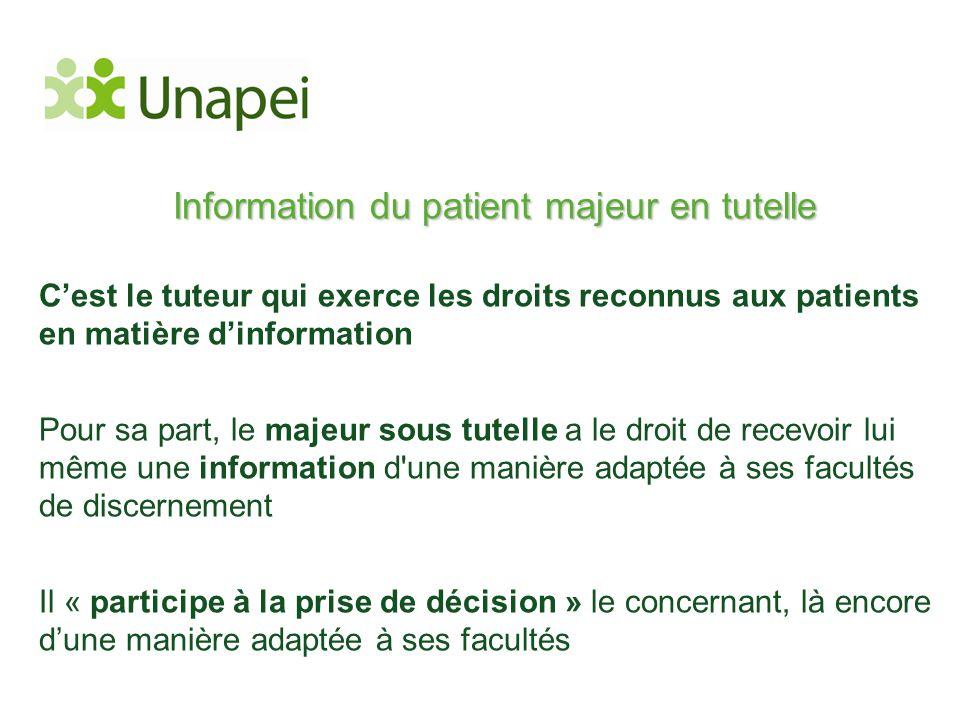 Information du patient majeur en tutelle