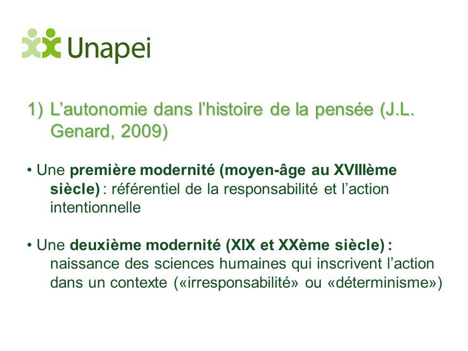L'autonomie dans l'histoire de la pensée (J.L. Genard, 2009)