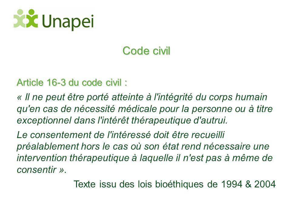 Code civil Article 16-3 du code civil :