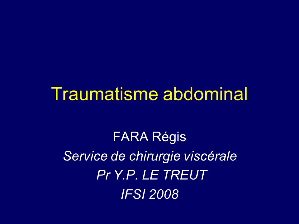 Traumatisme abdominal