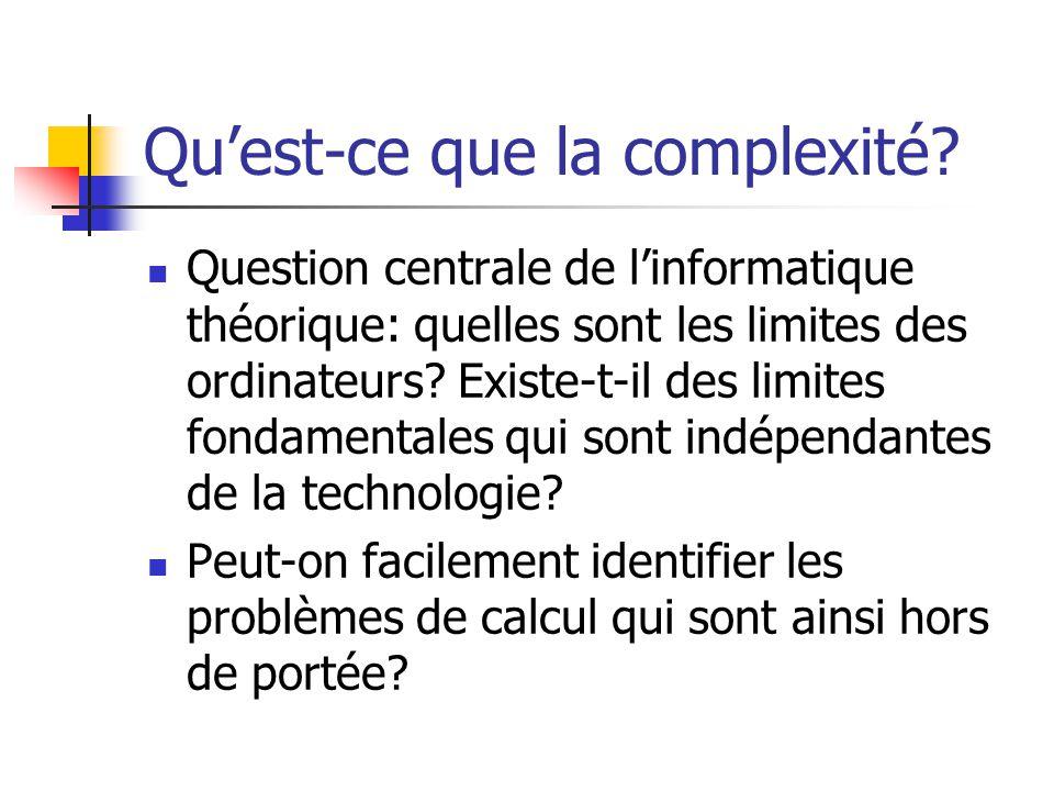 Qu'est-ce que la complexité
