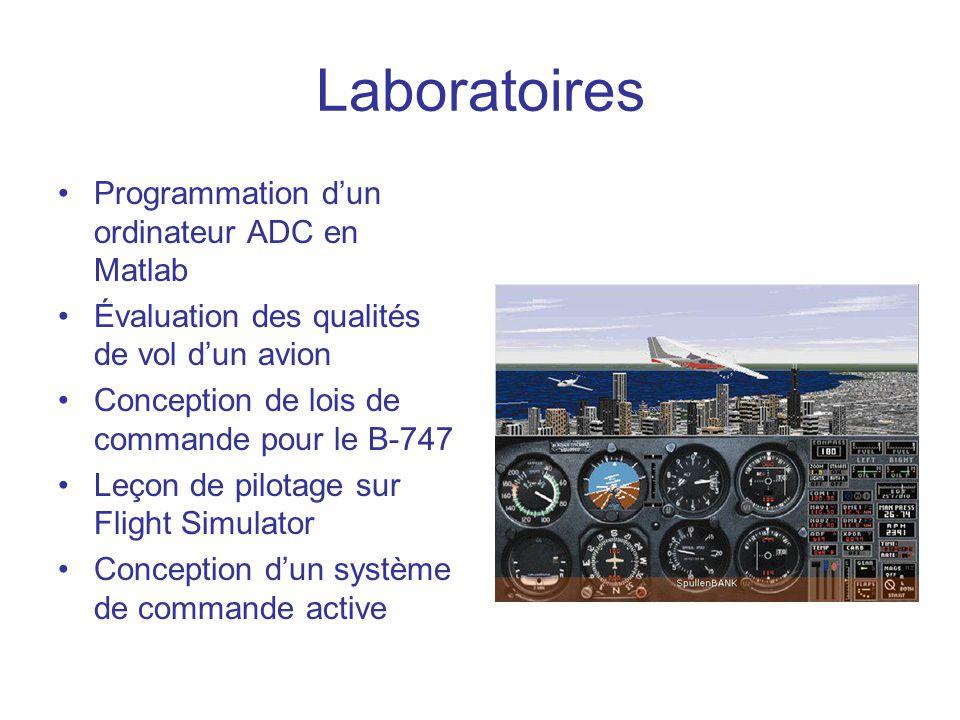 Laboratoires Programmation d'un ordinateur ADC en Matlab
