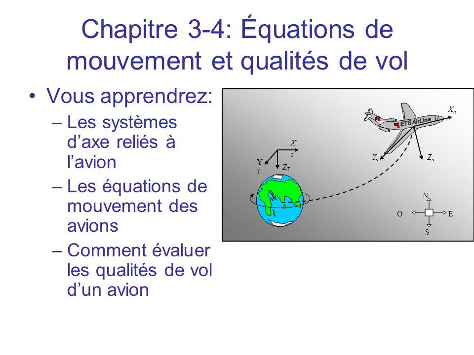 Chapitre 3-4: Équations de mouvement et qualités de vol
