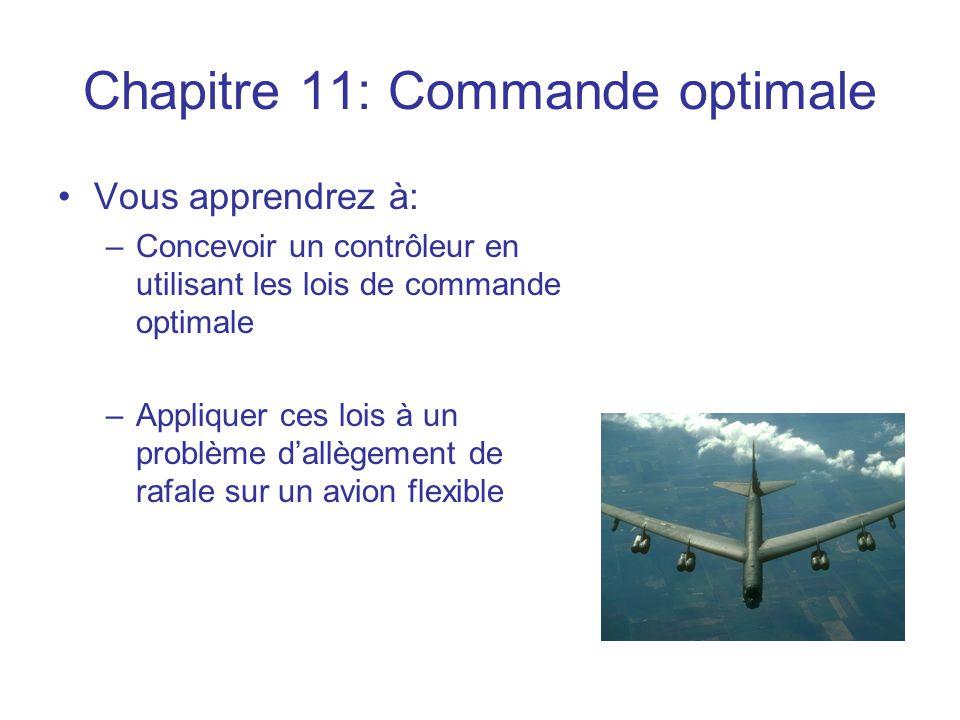 Chapitre 11: Commande optimale
