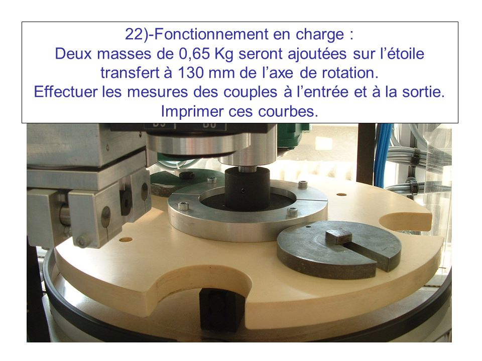 22)-Fonctionnement en charge :