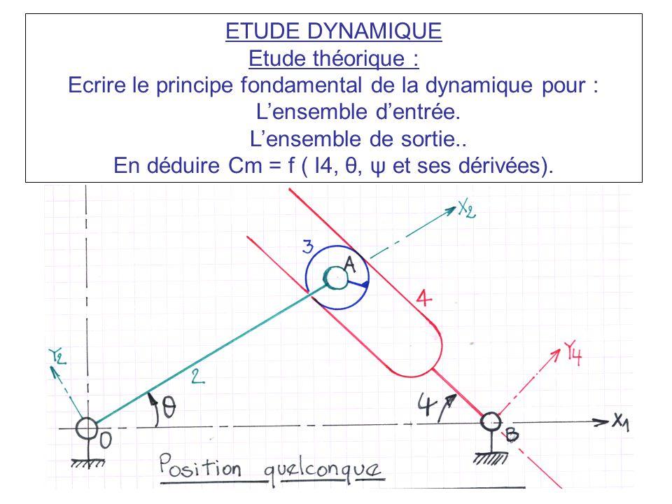 Ecrire le principe fondamental de la dynamique pour :