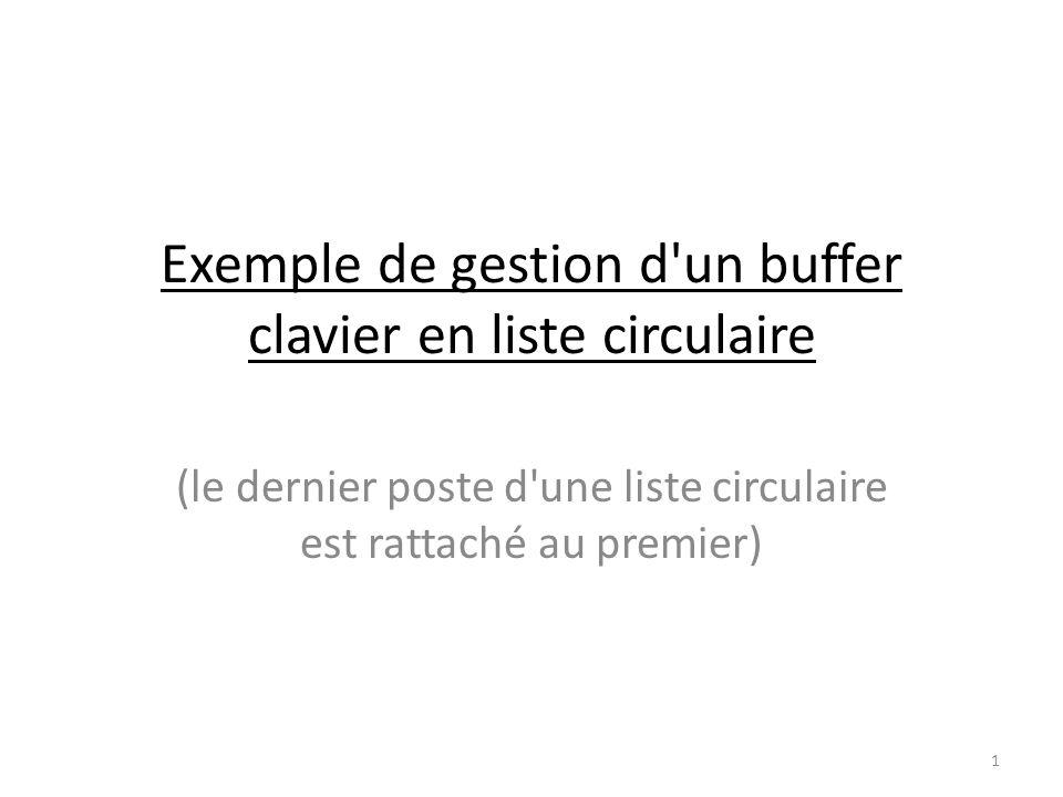 Exemple de gestion d un buffer clavier en liste circulaire