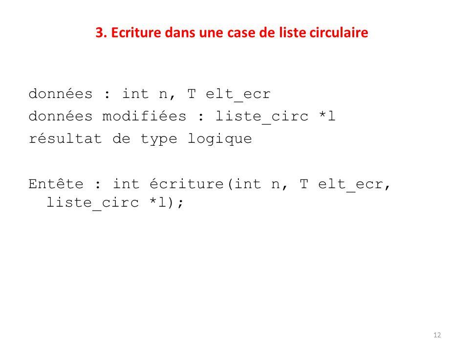 3. Ecriture dans une case de liste circulaire