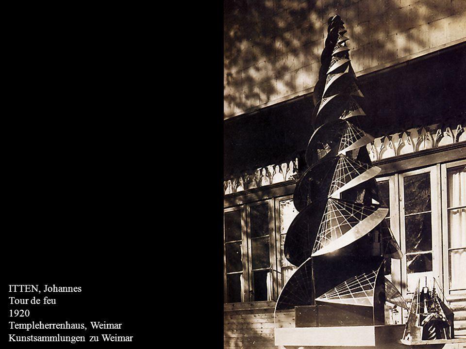 ITTEN, Johannes Tour de feu 1920 Templeherrenhaus, Weimar Kunstsammlungen zu Weimar