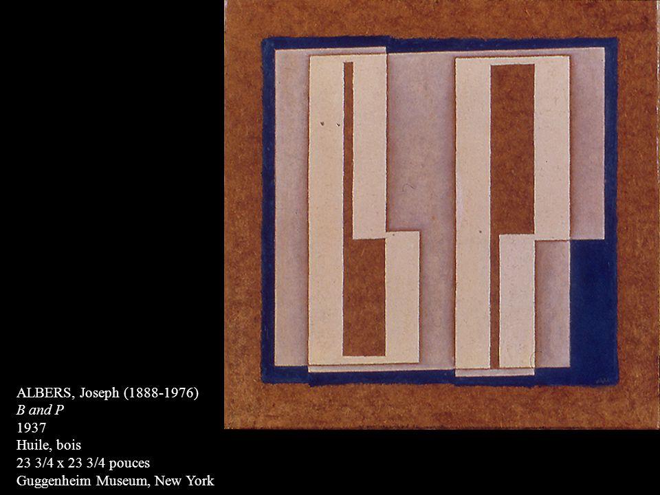 ALBERS, Joseph (1888-1976) B and P. 1937. Huile, bois.