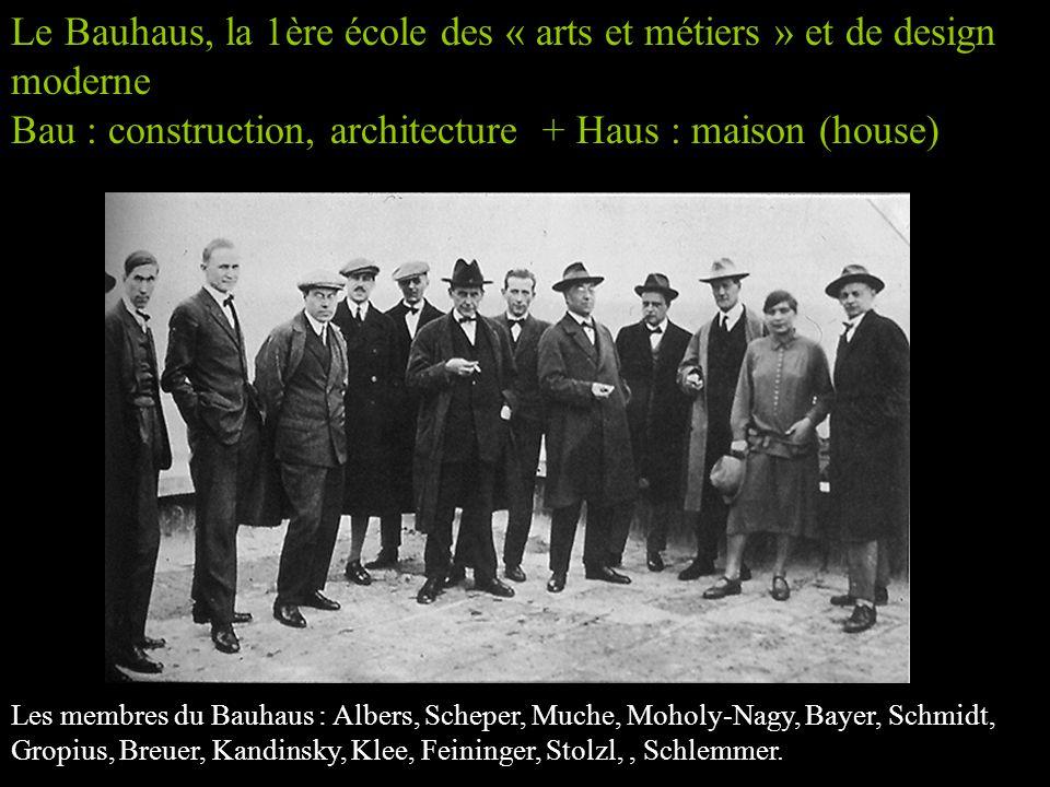 Le Bauhaus, la 1ère école des « arts et métiers » et de design moderne