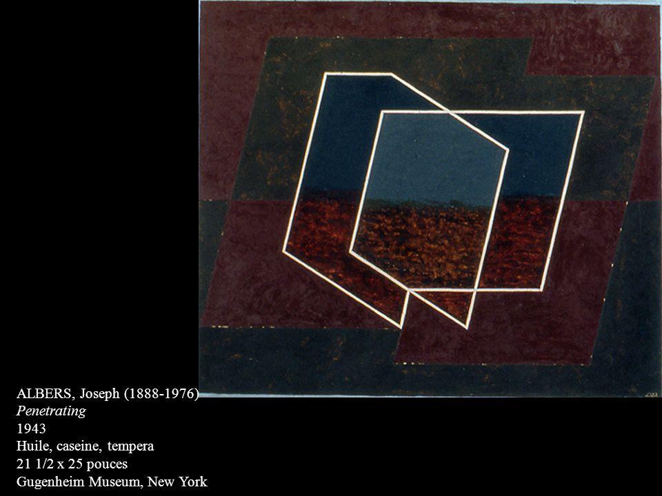 ALBERS, Joseph (1888-1976) Penetrating. 1943. Huile, caseine, tempera.