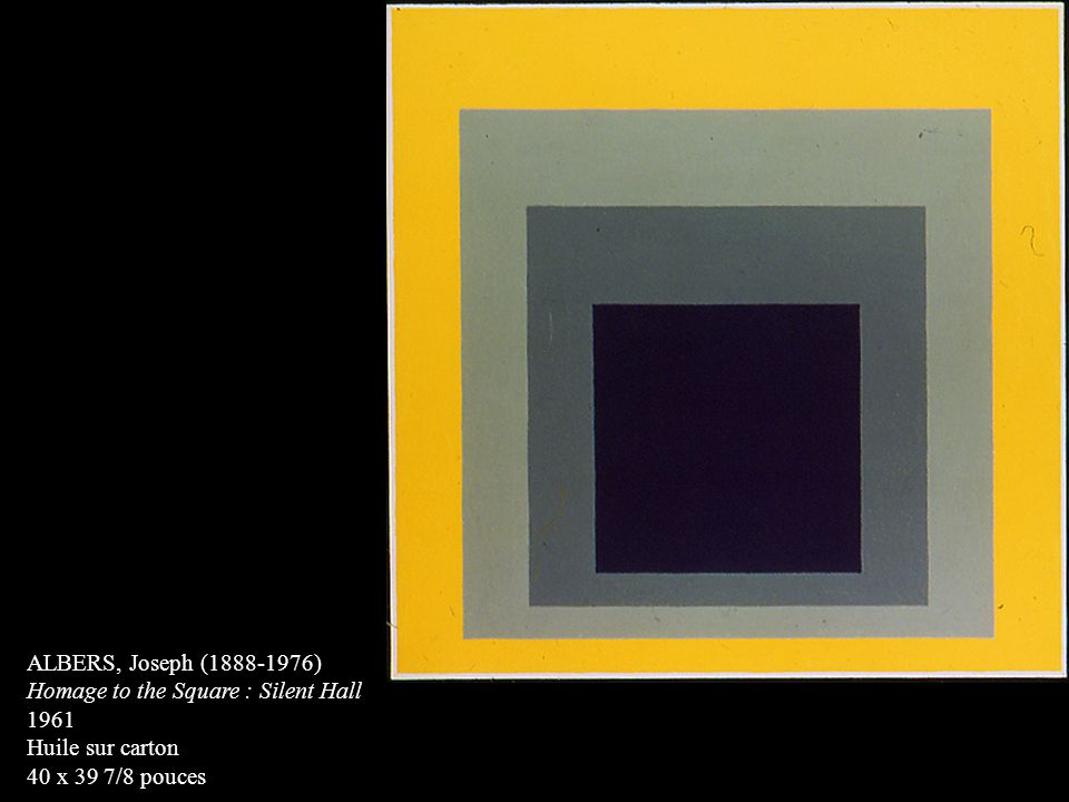 ALBERS, Joseph (1888-1976) Homage to the Square : Silent Hall.