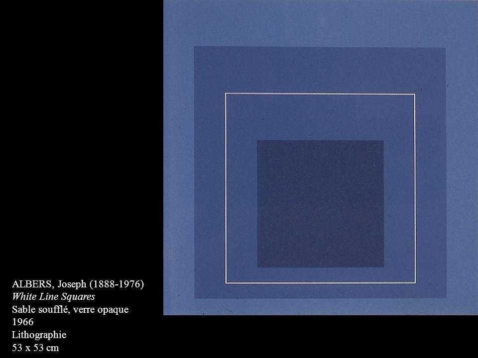 ALBERS, Joseph (1888-1976) White Line Squares. Sable soufflé, verre opaque.
