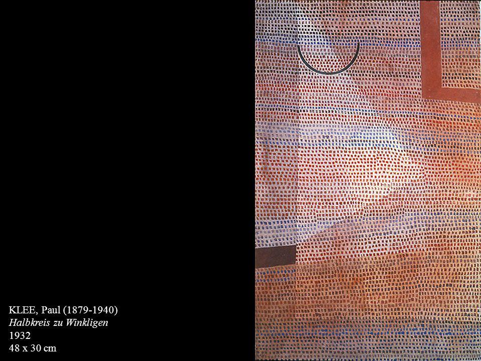 KLEE, Paul (1879-1940) Halbkreis zu Winkligen 1932 48 x 30 cm