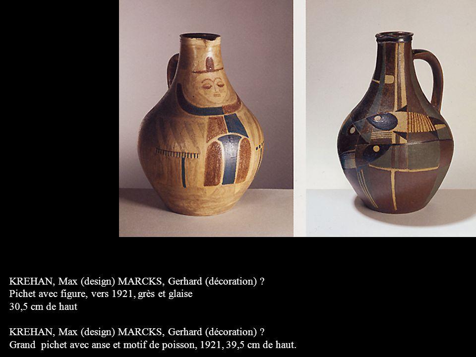 KREHAN, Max (design) MARCKS, Gerhard (décoration)