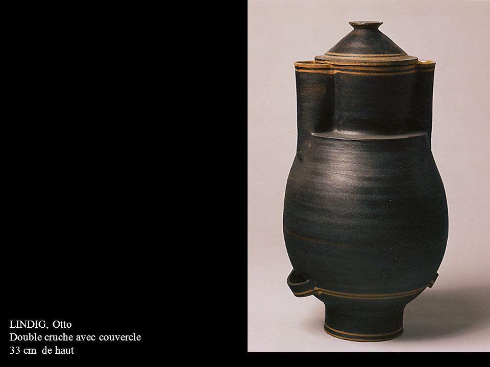 LINDIG, Otto Double cruche avec couvercle 33 cm de haut