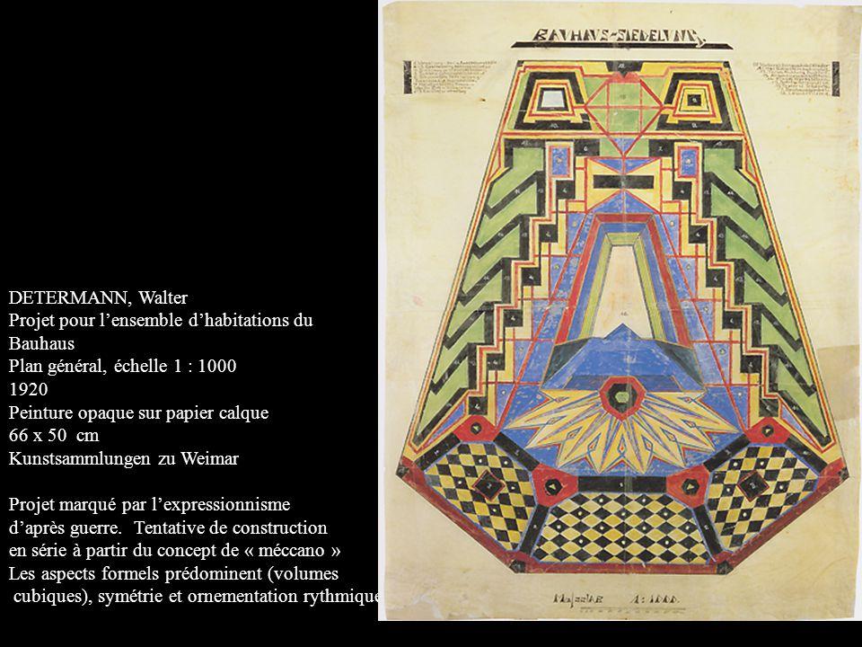 DETERMANN, Walter Projet pour l'ensemble d'habitations du. Bauhaus. Plan général, échelle 1 : 1000.