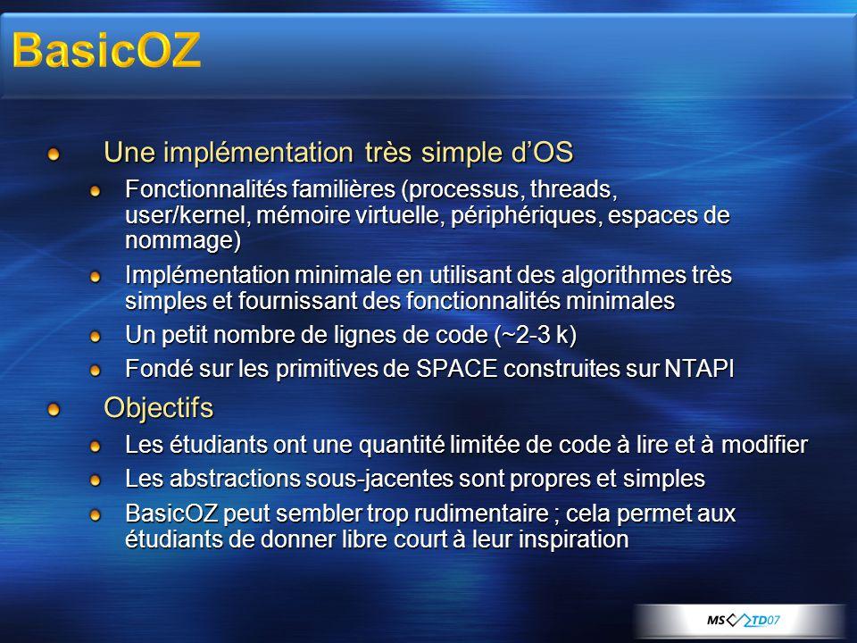 BasicOZ Une implémentation très simple d'OS Objectifs