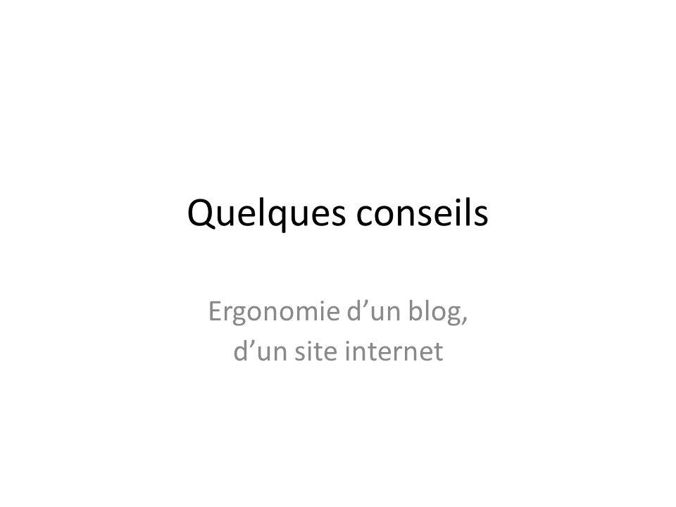 Ergonomie d'un blog, d'un site internet