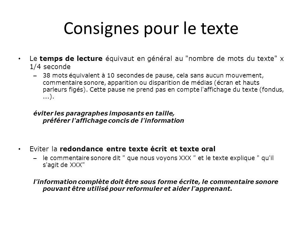 Consignes pour le texte