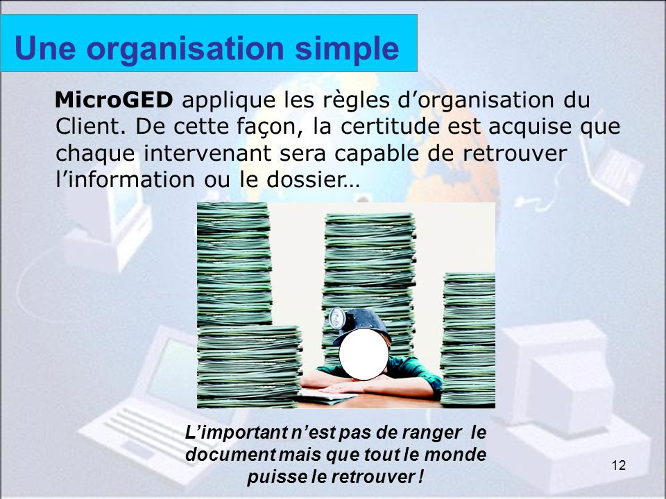 Une organisation simple