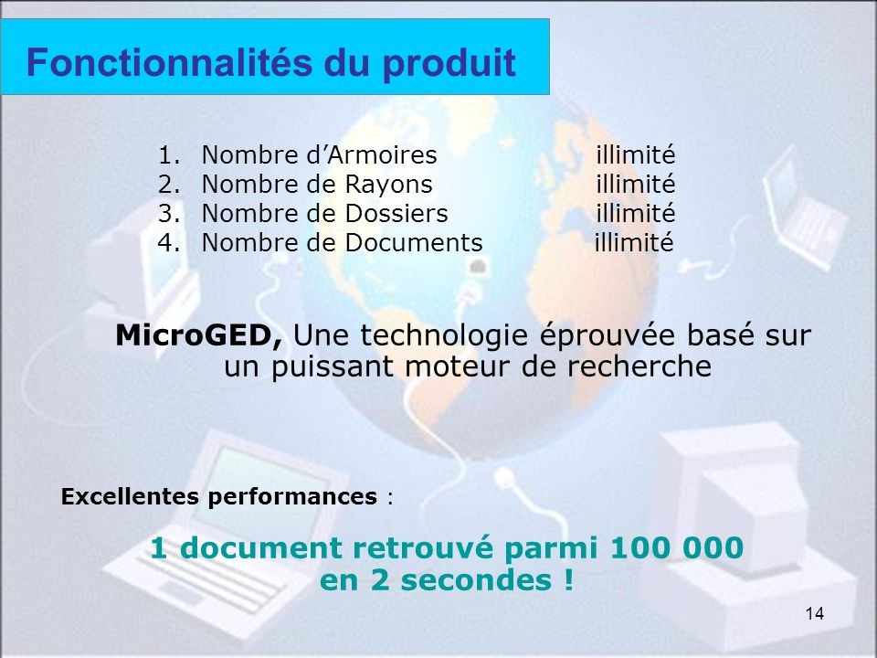 Fonctionnalités du produit (2)