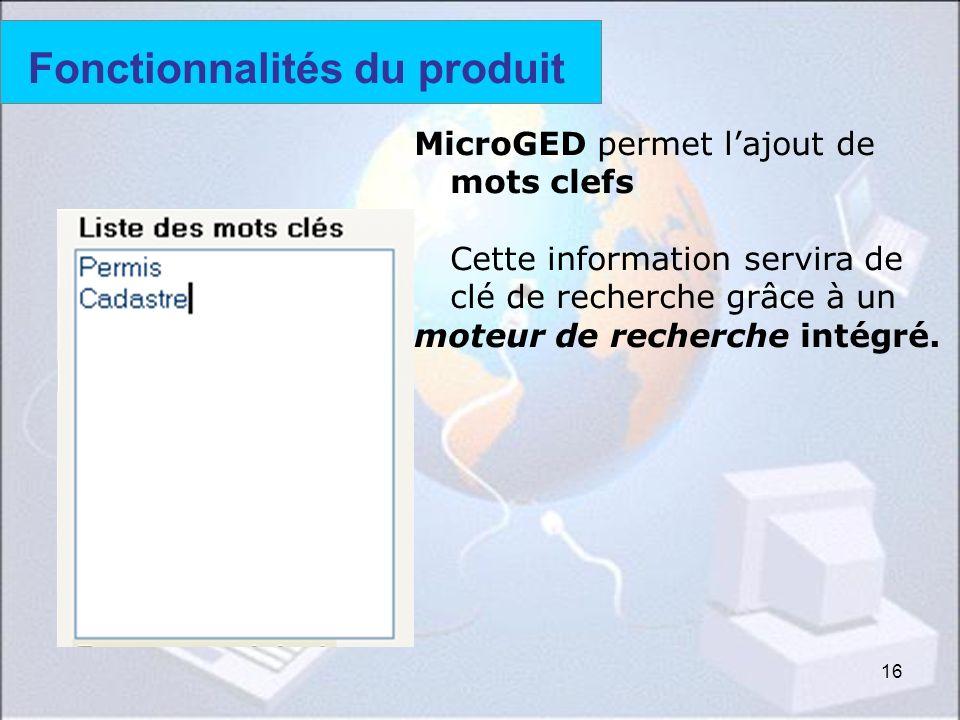 Fonctionnalités du produit (4)