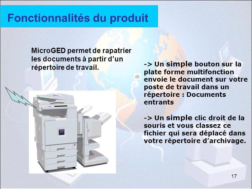 Fonctionnalités du produit (5)
