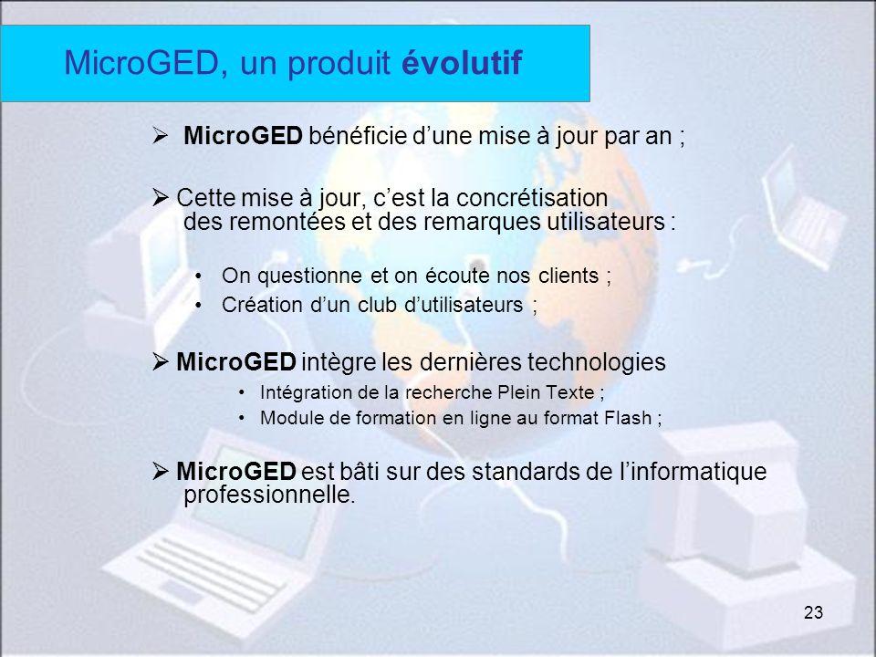MicroGED, un produit évolutif
