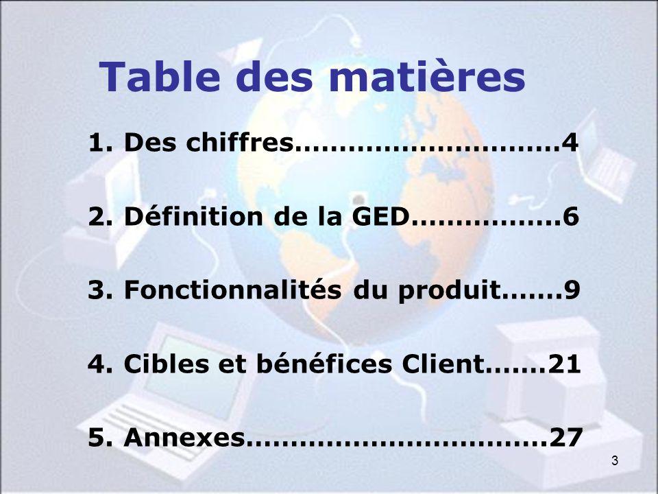 Table des matières 1. Des chiffres…………………………4