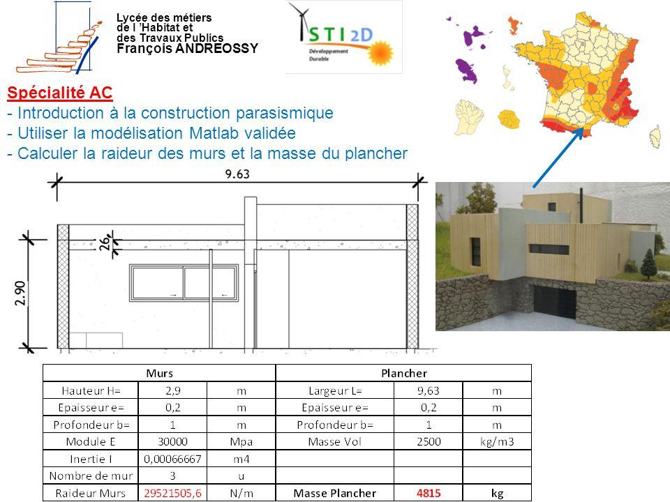 - Introduction à la construction parasismique