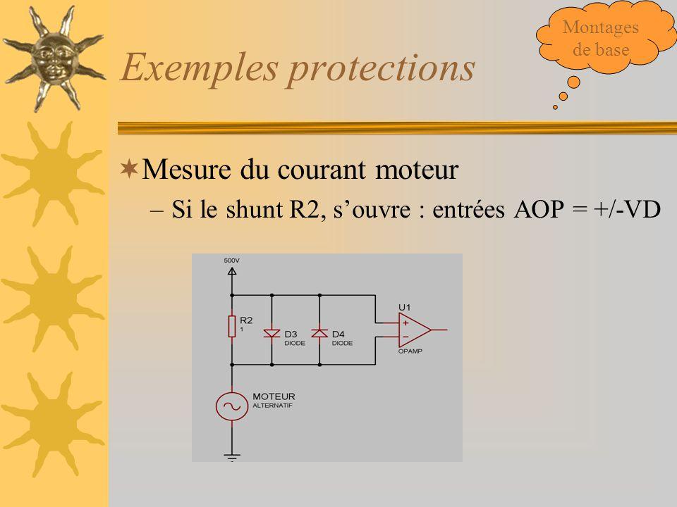 Exemples protections Mesure du courant moteur