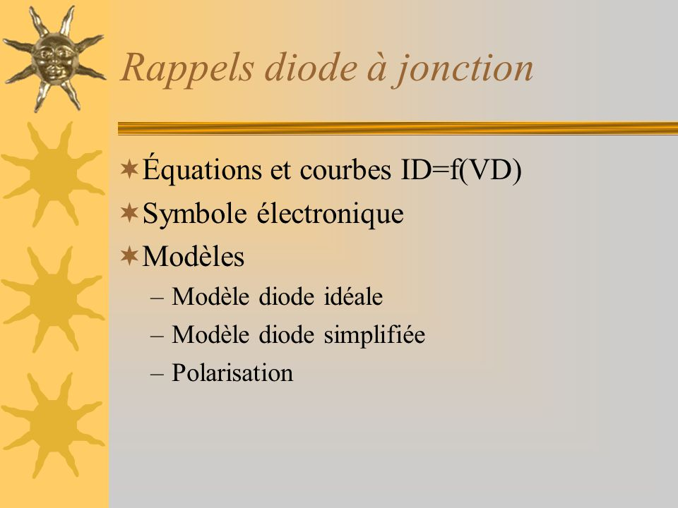 Rappels diode à jonction