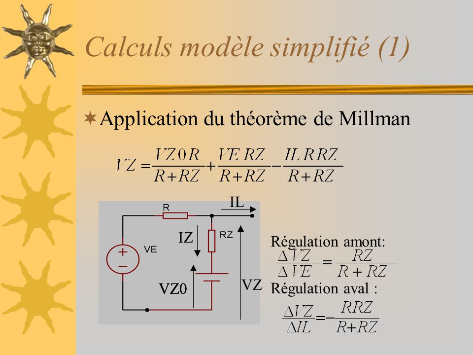 Calculs modèle simplifié (1)