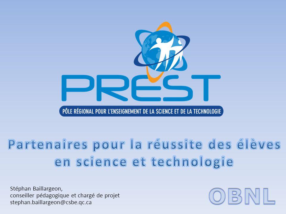 Partenaires pour la réussite des élèves en science et technologie
