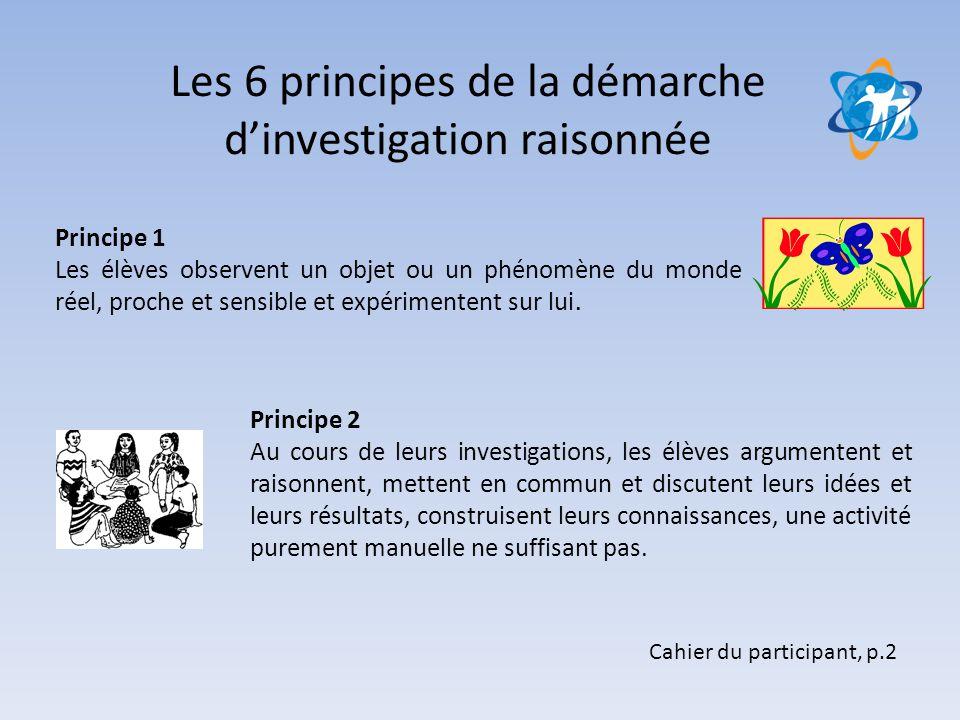 Les 6 principes de la démarche d'investigation raisonnée