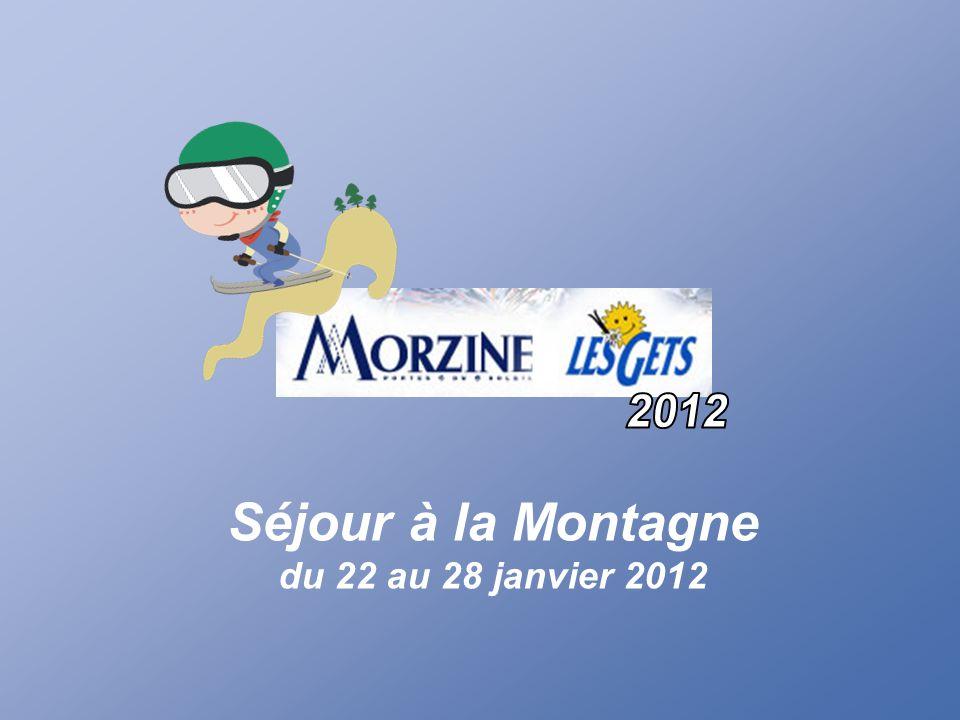2012 Séjour à la Montagne du 22 au 28 janvier 2012